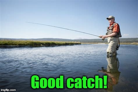 Good catch! | made w/ Imgflip meme maker