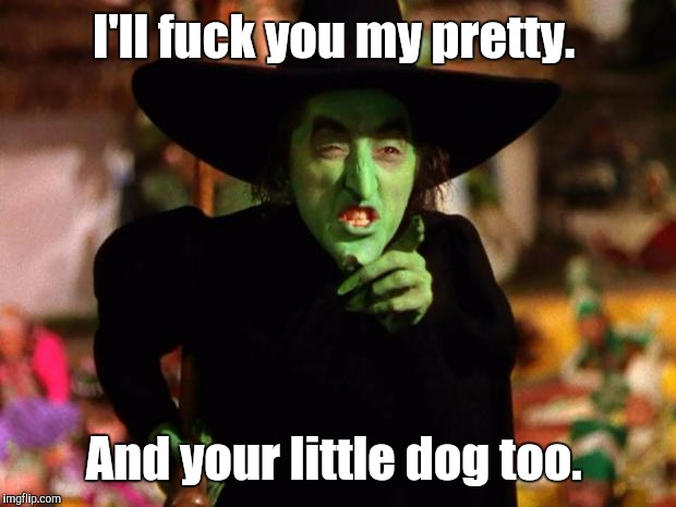 I'll f**k you my pretty. And your little dog too. | made w/ Imgflip meme maker