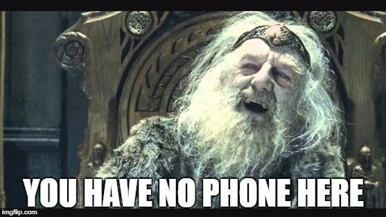 theoden retirement | YOU HAVE NO PHONE HERE | image tagged in theoden retirement | made w/ Imgflip meme maker