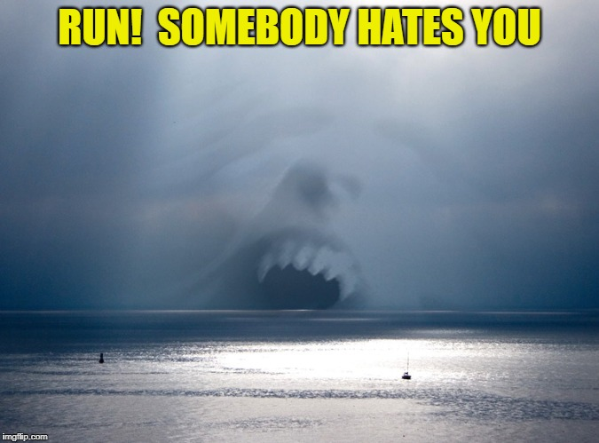 RUN!  SOMEBODY HATES YOU | made w/ Imgflip meme maker