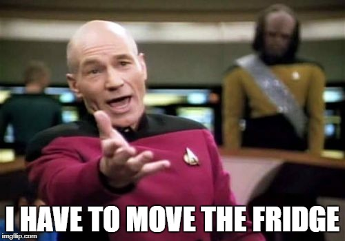 Picard Wtf Meme | I HAVE TO MOVE THE FRIDGE | image tagged in memes,picard wtf | made w/ Imgflip meme maker