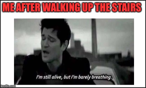 This is Legit!  | ME AFTER WALKING UP THE STAIRS | image tagged in memes,lol,lynch1979 | made w/ Imgflip meme maker