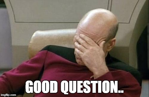 Captain Picard Facepalm Meme | GOOD QUESTION.. | image tagged in memes,captain picard facepalm | made w/ Imgflip meme maker