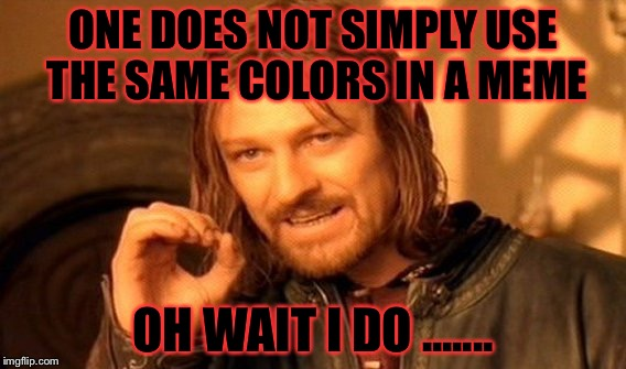 "Yeah I use red & black but only as red ""background"" and black as text color ....... it's mine! 