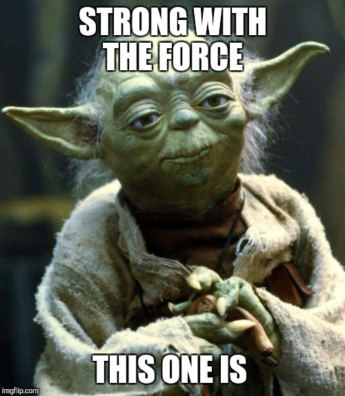 Star Wars Yoda Meme | STRONG WITH THE FORCE THIS ONE IS | image tagged in memes,star wars yoda | made w/ Imgflip meme maker