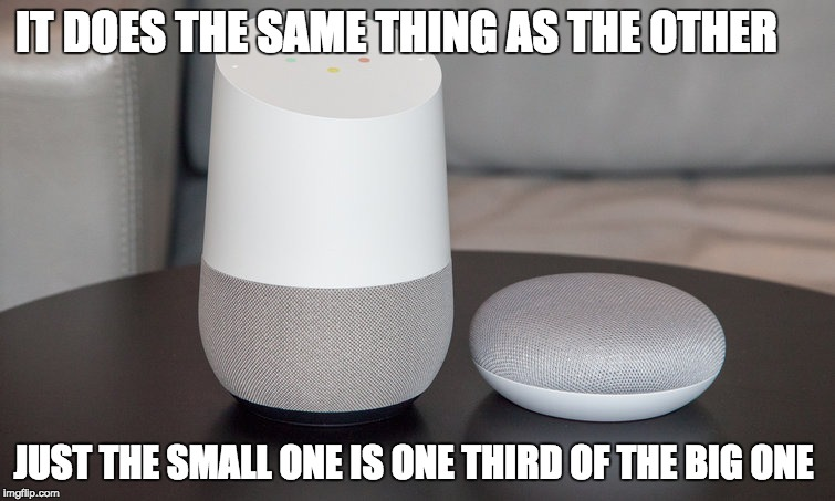 IT DOES THE SAME THING AS THE OTHER JUST THE SMALL ONE IS ONE THIRD OF THE BIG ONE | image tagged in one does not simply | made w/ Imgflip meme maker