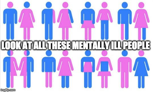 My favorite it the leg that is another gender! | LOOK AT ALL THESE MENTALLY ILL PEOPLE | image tagged in gender chart 58 genders,transgender,gender confusion,college liberal,mainstream media | made w/ Imgflip meme maker