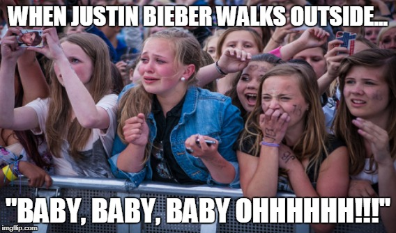 "Justin Bieber comes to town | WHEN JUSTIN BIEBER WALKS OUTSIDE... ""BABY, BABY, BABY OHHHHHH!!!"" 