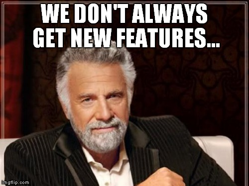 Thanks for the pic cropping option on uploads,,, | WE DON'T ALWAYS GET NEW FEATURES... | image tagged in imgflip,new feature,checkout | made w/ Imgflip meme maker