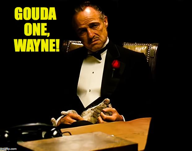 GOUDA ONE, WAYNE! | made w/ Imgflip meme maker