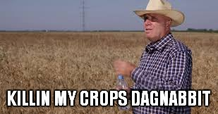KILLIN MY CROPS DAGNABBIT | made w/ Imgflip meme maker
