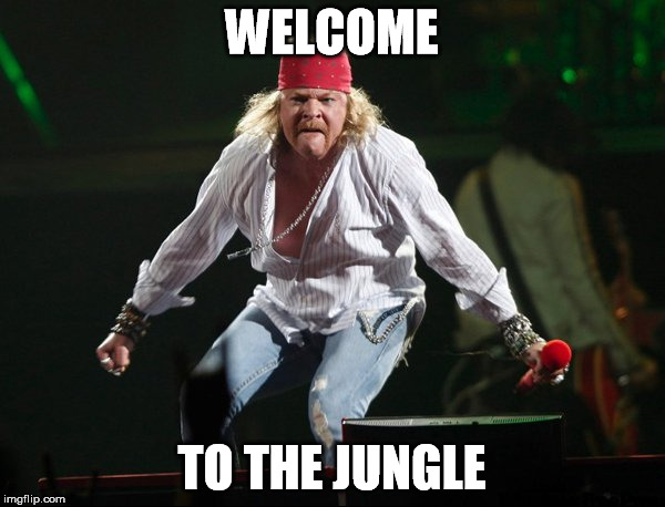 WELCOME TO THE JUNGLE | made w/ Imgflip meme maker