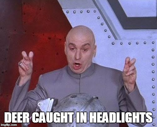 Dr Evil Laser Meme | DEER CAUGHT IN HEADLIGHTS | image tagged in memes,dr evil laser | made w/ Imgflip meme maker