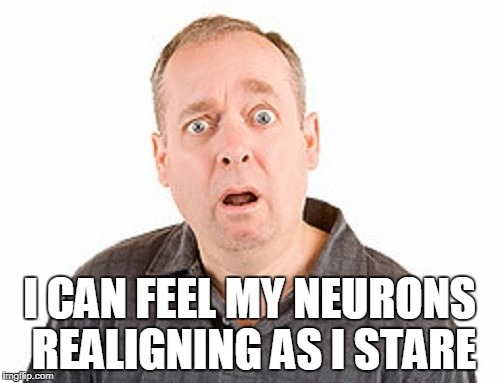 I CAN FEEL MY NEURONS REALIGNING AS I STARE | made w/ Imgflip meme maker