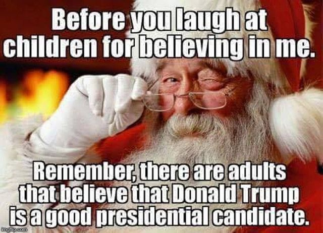 Santa Claus Trump Wink | image tagged in wink,donald trump,santa claus,christmas | made w/ Imgflip meme maker