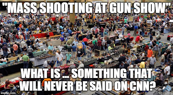 """Bloody puddle is all that's left of shooter"" is a possibility. 