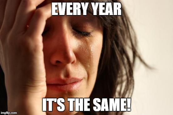 First World Problems Meme | EVERY YEAR IT'S THE SAME! | image tagged in memes,first world problems | made w/ Imgflip meme maker