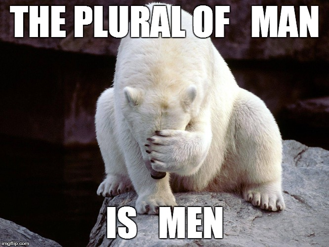 THE PLURAL OF   MAN IS   MEN | made w/ Imgflip meme maker
