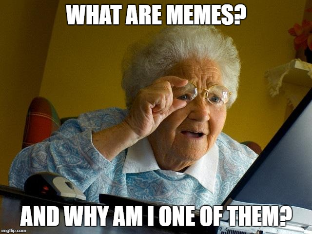 Grandma Finds The Internet Meme | WHAT ARE MEMES? AND WHY AM I ONE OF THEM? | image tagged in memes,grandma finds the internet,funny,sudden realization,oh my god | made w/ Imgflip meme maker