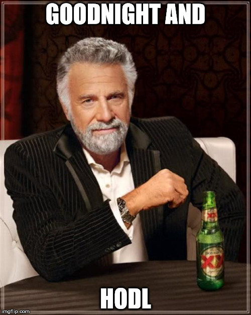 The Most Interesting Man In The World Meme | GOODNIGHT AND HODL | image tagged in memes,the most interesting man in the world | made w/ Imgflip meme maker