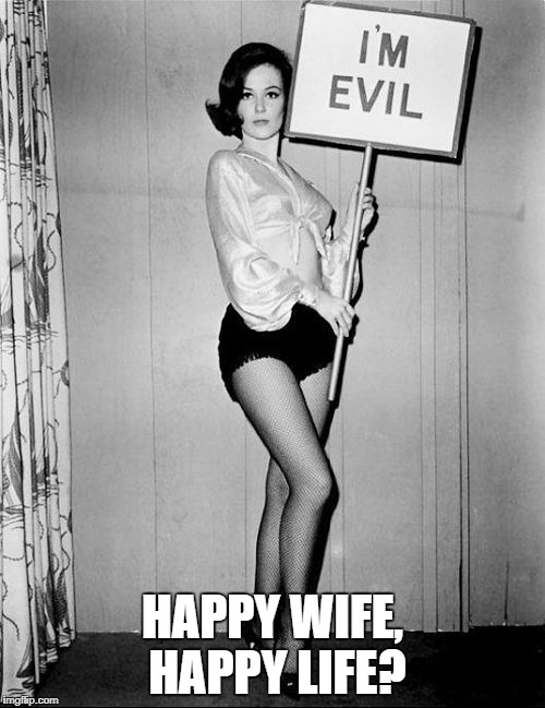 HAPPY WIFE, HAPPY LIFE? | made w/ Imgflip meme maker