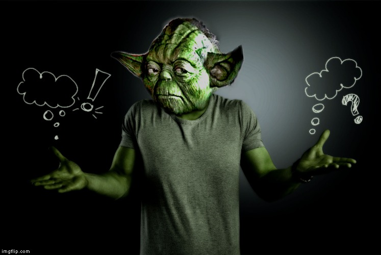 yoda shrug | image tagged in yoda shrug | made w/ Imgflip meme maker
