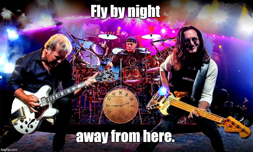 Fly by night away from here. | made w/ Imgflip meme maker