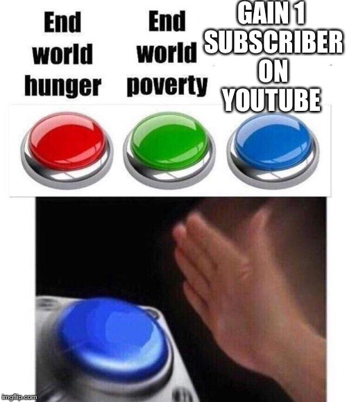2017 | GAIN 1 SUBSCRIBER ON YOUTUBE | image tagged in memes | made w/ Imgflip meme maker