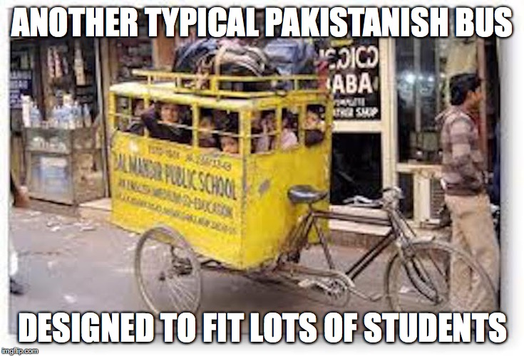 Fanbas | ANOTHER TYPICAL PAKISTANISH BUS DESIGNED TO FIT LOTS OF STUDENTS | image tagged in bus,memes | made w/ Imgflip meme maker