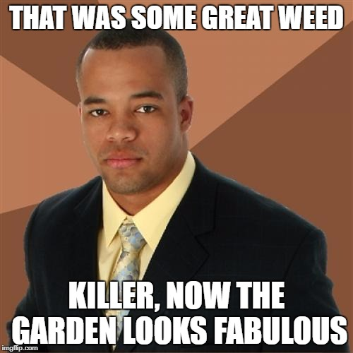 THAT WAS SOME GREAT WEED KILLER, NOW THE GARDEN LOOKS FABULOUS | made w/ Imgflip meme maker