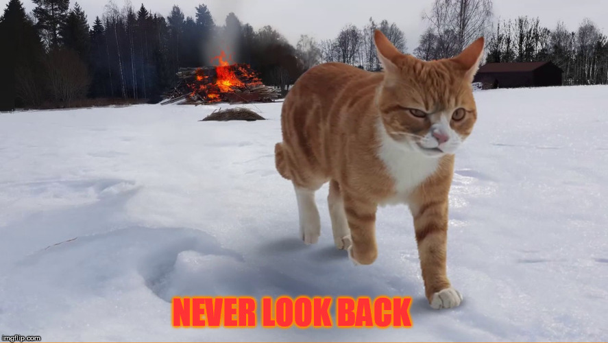 NEVER LOOK BACK | made w/ Imgflip meme maker