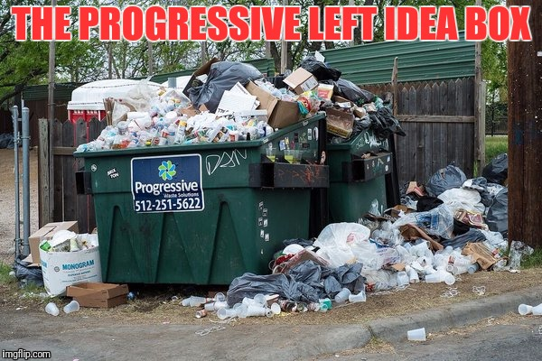 garbage  | THE PROGRESSIVE LEFT IDEA BOX | image tagged in garbage | made w/ Imgflip meme maker