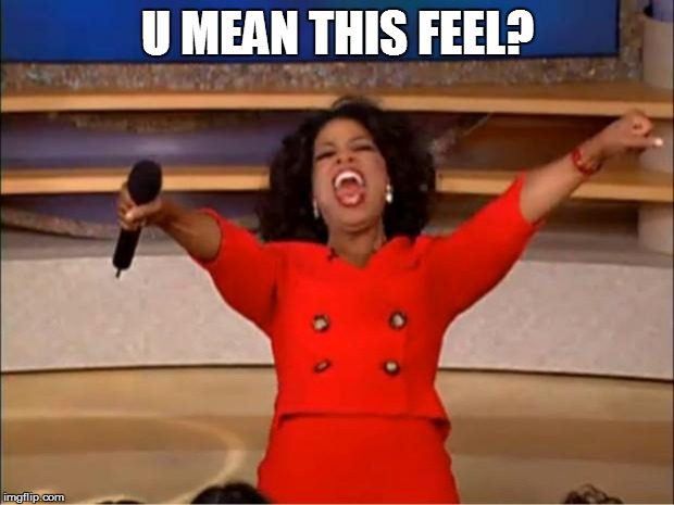 Oprah You Get A Meme | U MEAN THIS FEEL? | image tagged in memes,oprah you get a | made w/ Imgflip meme maker