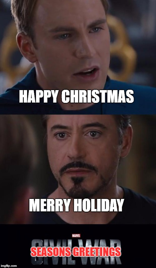 HAPPY CHRISTMAS MERRY HOLIDAY SEASONS GREETINGS | made w/ Imgflip meme maker