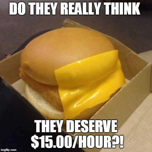 DO THEY REALLY THINK THEY DESERVE $15.00/HOUR?! | made w/ Imgflip meme maker