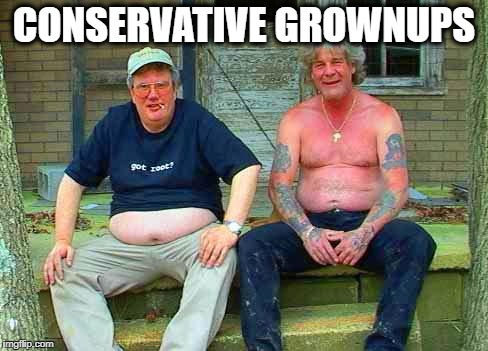 Redneck School2 | CONSERVATIVE GROWNUPS | image tagged in redneck school2 | made w/ Imgflip meme maker