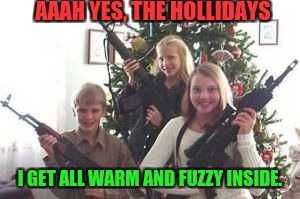 AAAH YES, THE HOLLIDAYS I GET ALL WARM AND FUZZY INSIDE. | made w/ Imgflip meme maker