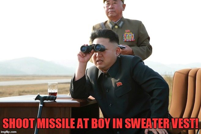 SHOOT MISSILE AT BOY IN SWEATER VEST! | made w/ Imgflip meme maker