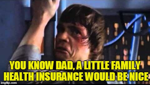 YOU KNOW DAD, A LITTLE FAMILY HEALTH INSURANCE WOULD BE NICE | made w/ Imgflip meme maker