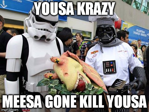 YOUSA KRAZY MEESA GONE KILL YOUSA | made w/ Imgflip meme maker