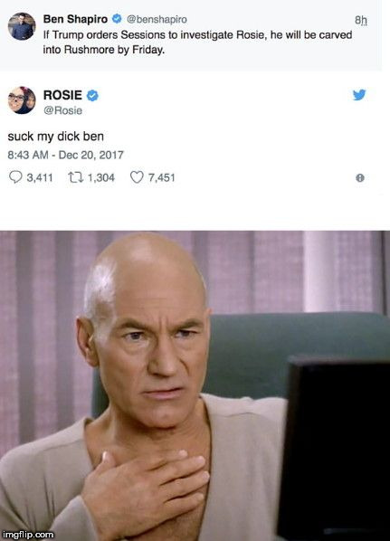 image tagged in how 99 of us reacted to rosie's tweet to shapiro | made w/ Imgflip meme maker
