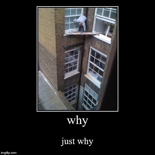 why | just why | image tagged in funny,demotivationals | made w/ Imgflip demotivational maker