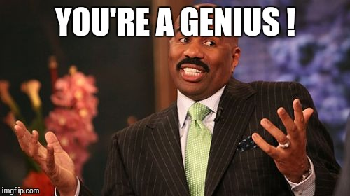 Steve Harvey Meme | YOU'RE A GENIUS ! | image tagged in memes,steve harvey | made w/ Imgflip meme maker