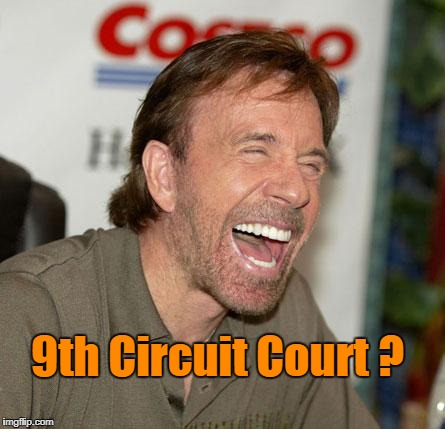9th Circuit Court ? | 9th Circuit Court ? | image tagged in memes,chuck norris laughing,chuck norris | made w/ Imgflip meme maker
