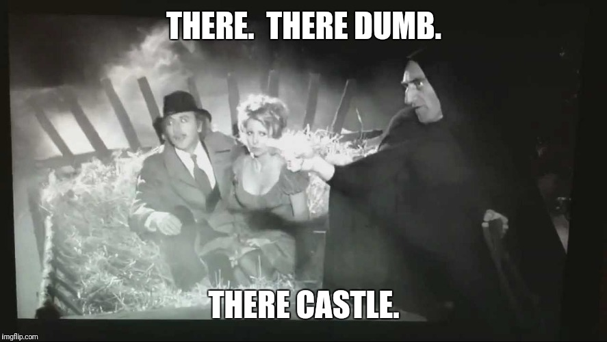 THERE.  THERE DUMB. THERE CASTLE. | made w/ Imgflip meme maker