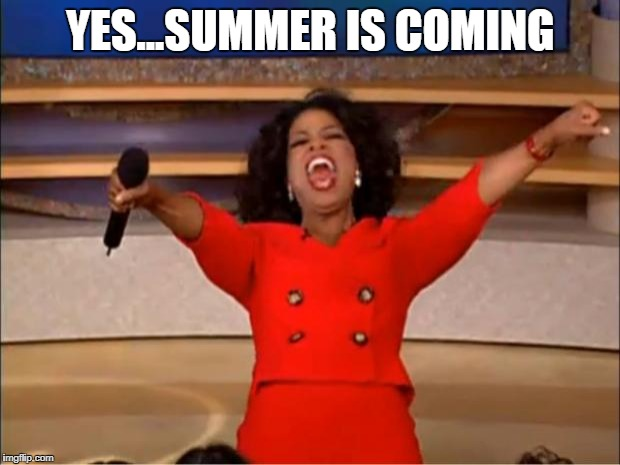 Oprah You Get A Meme | YES...SUMMER IS COMING | image tagged in memes,oprah you get a | made w/ Imgflip meme maker