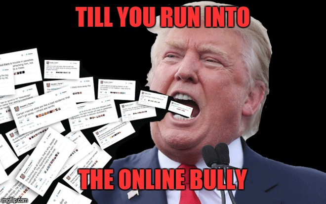 TILL YOU RUN INTO THE ONLINE BULLY | made w/ Imgflip meme maker