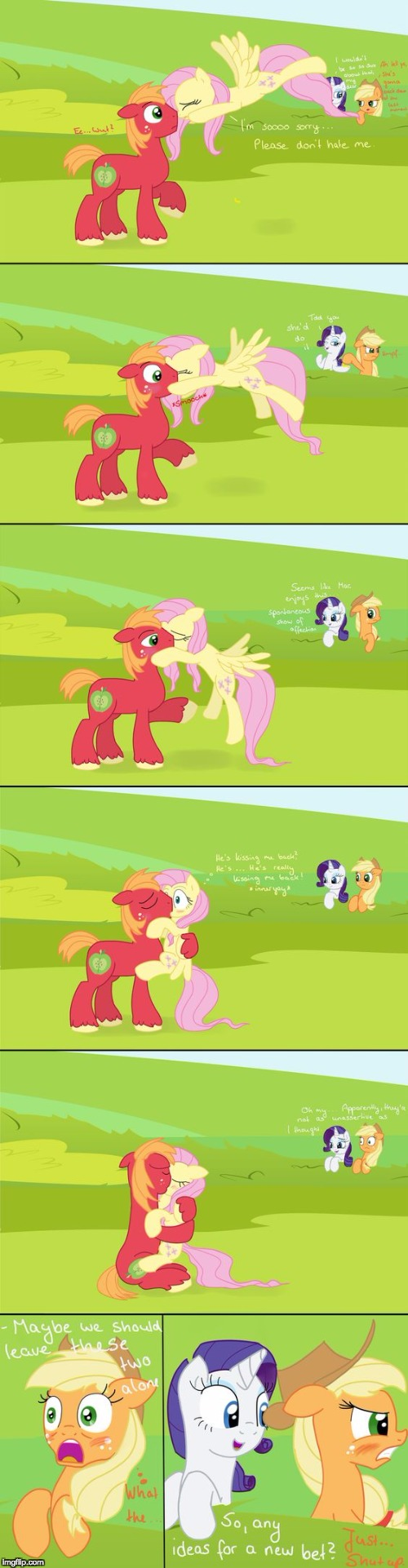 Looks like some interesting pony action! | image tagged in memes,my little pony,fluttershy,big mac,applejack,rarity | made w/ Imgflip meme maker