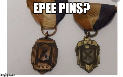 If you are allergic to normal people | EPEE PINS? | image tagged in epee,fencing,play on words,funny | made w/ Imgflip meme maker