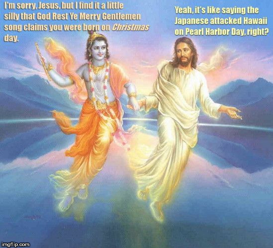 image tagged in krishna and jesus | made w/ Imgflip meme maker